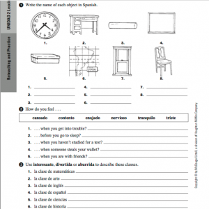 Avancemos 1 Unit 5 Lesson 1 Answer Key