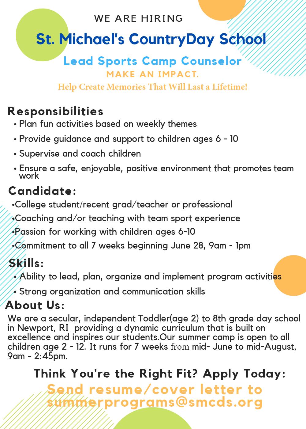 summer camp employment